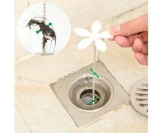 5 PCS Kitchen Sink Cleaner catena Catene parrucca Cleaners spina di rimozione dei capelli Vasca Clog Cisterna filtro di depurazione Bagno Doccia fognatura gancio Sweep Catcher Canale Clean up Gamma per Ungfu Mall