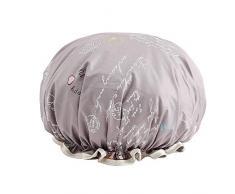 Cuffia Doccia-Cuffia per Doccia Protezione di acquazzone impermeabili del doppio della protezione di acquazzone dei capelli di copertura della femmina adulta doccia Cap cucina anti-fumo Capelli Cap is