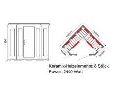 Jet-Line Eck Sauna Sauna a raggi infrarossi Spitzbergen Wellness trade-line-partner