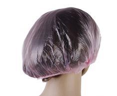 Frcolor Impermeabile Cuffia da Doccia Bagno Cappello Spa Banda Elastica (Rosa) - 100 pezzi