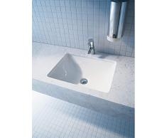 Duravit Starck 3 - Lavabo Incasso Senza Foro 49 cm C47 starck3 Bianco