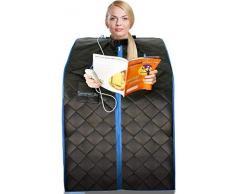 Sauna Infrarossi e portatile serenelife | Spa a Casa per una persona | Ideale per la désintoxication e la perdita di peso Nero
