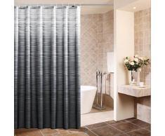 XIAOXINYUAN Tenda Da Doccia Che Ispira Tessuto In Poliestere Nero Con Ganci Eco Gradient Proof Bath Waterproof Waterproof Tende Da Bagno 180 × 180Cm