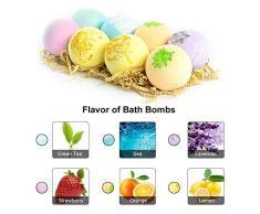 Bombe da bagno,Anself 8pcs Bath Bombs Body Cleaner Multi-colour Spa Oli Essenziali Kit Bomba Bagno Idratante Pelle Secca e Profondo Rilassamento Idee Regalo (tipo 1)