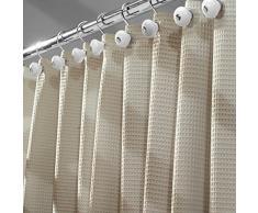 mDesign tenda doccia elegante in misto cotone – misure: 180 x 180 cm – colore: beige – tende doccia tessuto idrorepellente – tende da bagno