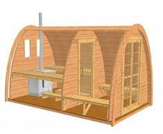 Sauna finlandese iglu fino a 4 persone da esterno