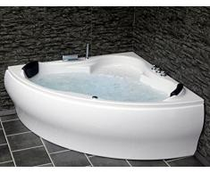 whirlpool vasca da bagno parigi made in germany con 8 ugelli per massaggio led subacquea