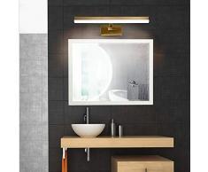 O&YQ Lampade per Specchi da Bagno Specchi per Trucco Specchi per Luci a LED Lampade da Parete per Bagno Make Up Lights Warm Light Without Bulb, 57,5 centimetri-14w