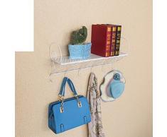 Giardino in ferro battuto da parete/Scaffale/bagno/cucina/Appendiabiti/mensola/fiore-A