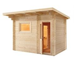 Sauna finlandese Norvegia per 6 persone da esterno con spogliatoio