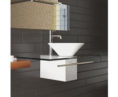 Vanità / designer bacino Serie 120 / Alpi Berger / mobili da bagno di vetro / soluzione di lavabo / bacino di ceramica / piano in cristallo / lavandino / lavabo / bagno per gli ospiti