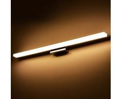 Kairry Moderno E Minimalista Faro Umidità Ruggine Singolo Creativo Moda Acrilico Specchio Vanità Bagno Luci Led,120 Cm' Luce Calda