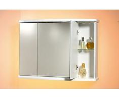 Specchio specchiera mobile arredo bagno MDF contenitore ascoli 77x65hx25
