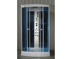 Bagno Italia Box idromassaggio cm 120x80 6 getti Cabina doccia con sauna aromaterapia radio cromoterapia I