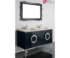 Lavabo doppio lavabo design di lusso vanità di marmo 150x85x53 nuovo nero