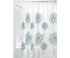InterDesign Allium Tenda Doccia, Vinile, Blu, 180x0.2x180 cm