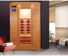 Sauna Infrarossi 120x115 due persone con Cromoterapia e doppio pannello di controllo