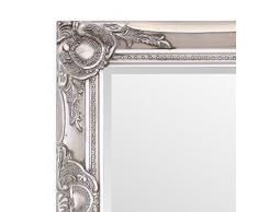 Selezionare specchi Haywood Specchio da Parete – French Vintage, Stile rococò Barocco – Argento – 42 cm x 52 cm – Shabby Chic Home Decor by