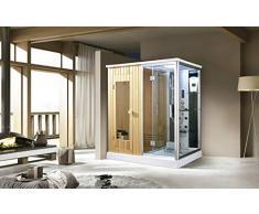 Trade-Line, doccia a vapore, 170 x 120 cm, con funzione sauna + dotazione completa