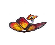 APENCHREN Contenitori di Vetro Temperato della Stanza da Bagno, Lavandino Creativo della Ciotola del Controsoffitto di Forma della Farfalla, Lavandino Moderno (62x45x15.5cm),B