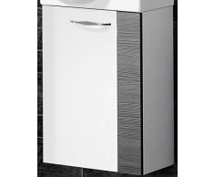 Lavabo sotto armadio Sceno colore: pino antracite/bianco lucido