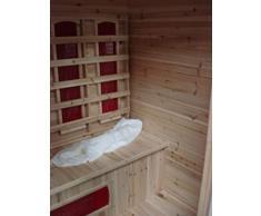 Sauna per esterno 170x120x210,5 infrarossi cromoterapia radio aromaterapia in legno d'abete