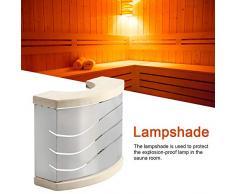 Sauna Paralume Copertura della Luce Accessori per Bagno Turco Impugnatura in Legno Aspen in Acciaio Inossidabile, Adatta per Bagno Hotel