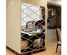 Adesivi Murali Specchio Cameretta Salotto Bagno Wall Stickers Rimovibile Impermeabile Carta Da Pareti Decorazione Murales,Mambain