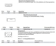 Solitaire 7025 3 pezzi Pelipal Mobile da bagno Set/lavabo/base/armadietto/Comfort E