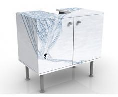 Mobile per lavabo design Skier In The Alps 60x55x35cm, basso, Larghezza: 60cm, regolabile, mobiletto da lavandino, lavandino, mobiletto da lavabo, lavabo, mobiletto, bagno, bagnetto, mobile da bagno