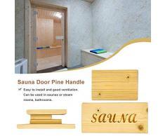 Tartiery Sauna in Legno con Manico per Il Bagno Accessori per Le Spazzole in Acciaio E Legno Massello Relaxing