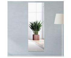 JMITHA 10 Pezzi Specchi Adesivi da Parete,15x15cm Piastrelle a Specchio Acrilico Adesivi da Parete Decorazione Murale, Camper Lo Specchio Murale Decorazioni per Interni Non Vetro Specchi