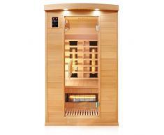 Troni Ingegneria Sauna Infrarossi 2 persone a infrarossi cabina sauna carbonio superficie & pieno spettro Faretti 120 cm x 100 cm x 190 cm