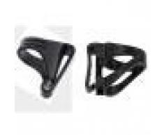 Sharplace 2 pcs/set 26mm Universale Scuba Diving Respiratore Boccaglio Portarotolo-Girevole e Rimovibile Tipo di Clip Mask Snorkel Keeper Quick Release Clip