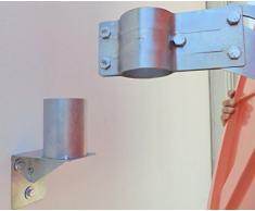 WBCM-48 Adattatore per montaggio a parete di specchi convessi, con staffa di fissaggio per palo da 48 mm