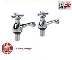Generic LQ ..1.. ..6435.. LQ Hot rubinetti Hot N lavandino da bagno Air Cold coppia Tradit cromato doppio lavabo rubinetto tradizionale Sty NV _ 1001006435-cnuk22