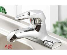 Rubinetto doppio foro rubinetto caldo e freddo bagno lavandino doppio foro rubinetto a tre fori in rame