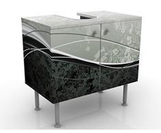 Mobile per lavabo design Swinging Baroque 60x55x35cm, basso, Larghezza: 60cm, regolabile, mobiletto da lavandino, lavandino, mobiletto da lavabo, lavabo, mobiletto, bagno, bagnetto, mobile da bagno