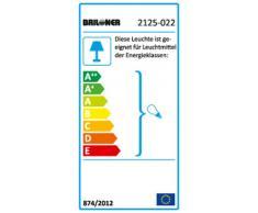 Briloner Leuchten 2125-022 Applique da Bagno per Specchio, Metallo/Glass, Argento