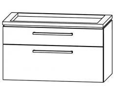 puris Cool Line Set: Sotto l' armadietto (wua389 a1m) + Lava di Dino lavabo (wss509058)/90 cm