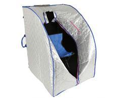 Flyelf Infrarossi Portatile Personale Spa, Box Sauna per Personale Detoxify Perdere Peso 98 x 70 x 80 cm (Infrarosso Argento)