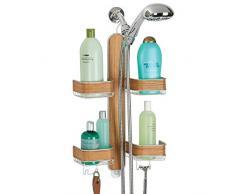 Accessorio per bagno in legno acquista accessori per bagno in legno online su livingo - Accessori doccia portaoggetti ...
