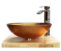 Home Supplies Rame - lavabo da appoggio in vetro lavabo