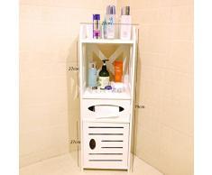 Servizi igienici mobili laterali ripiani bagno bagno Piano rack di stoccaggio igienici angolo Multi - scaffali dei negozi ( dimensioni : Piccolo )