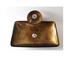Antico Rettangolare Materiale del dissipatore è Vetro temperato Lavandino bagno