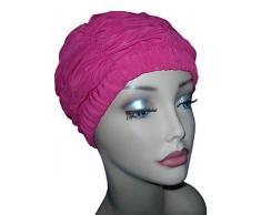 Fashy-Cuffia da doccia da donna, colore: rosa, in stile tradizionale