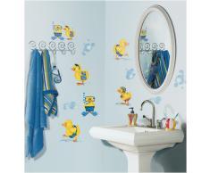 RoomMates Jomoval Adesivi a parete riposizionabili, motivo anatre al bagno