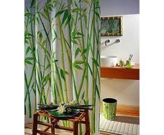 Leguana Tenda da doccia/vasca, 180 x 180 cm, motivo: bambù