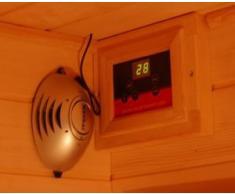 Sauna Infrarossi 150x115 in Legno Cedro Rosso 3 persone con doppio pannello di controllo con Ionizzatore