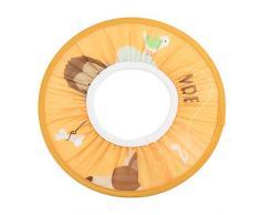 Cuffia da Protezione Doccia Bagno di Tessuto Impermeabile per Bambino Bambini Capelli Elastico Cappello Giallo